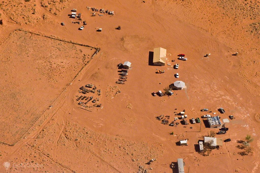 Acampamento, Monument Valley, Nacao Navajo, Estados unidos