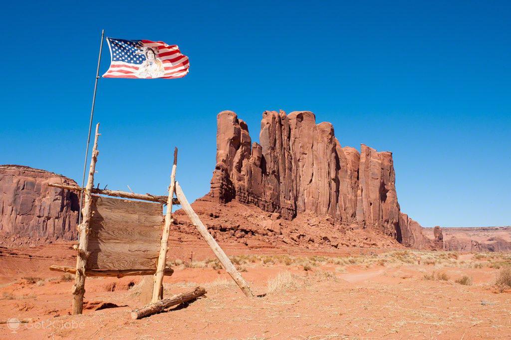 Bandeira, Monument Valley, Nacao Navajo, Estados unidos