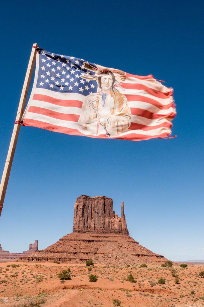 Bandeira EUA, Nação Navajo-Monument Valley-nacao navajo, Estados Unidos