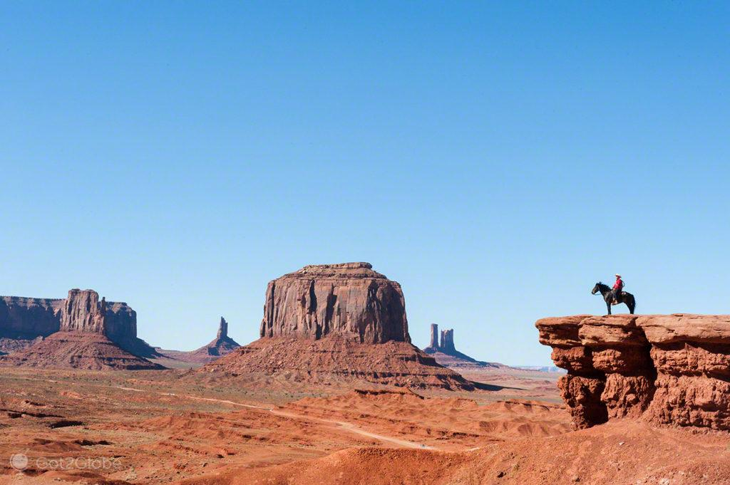 Vista do John Ford Point, Monument Valley, Nacao Navajo, Estados Unidos