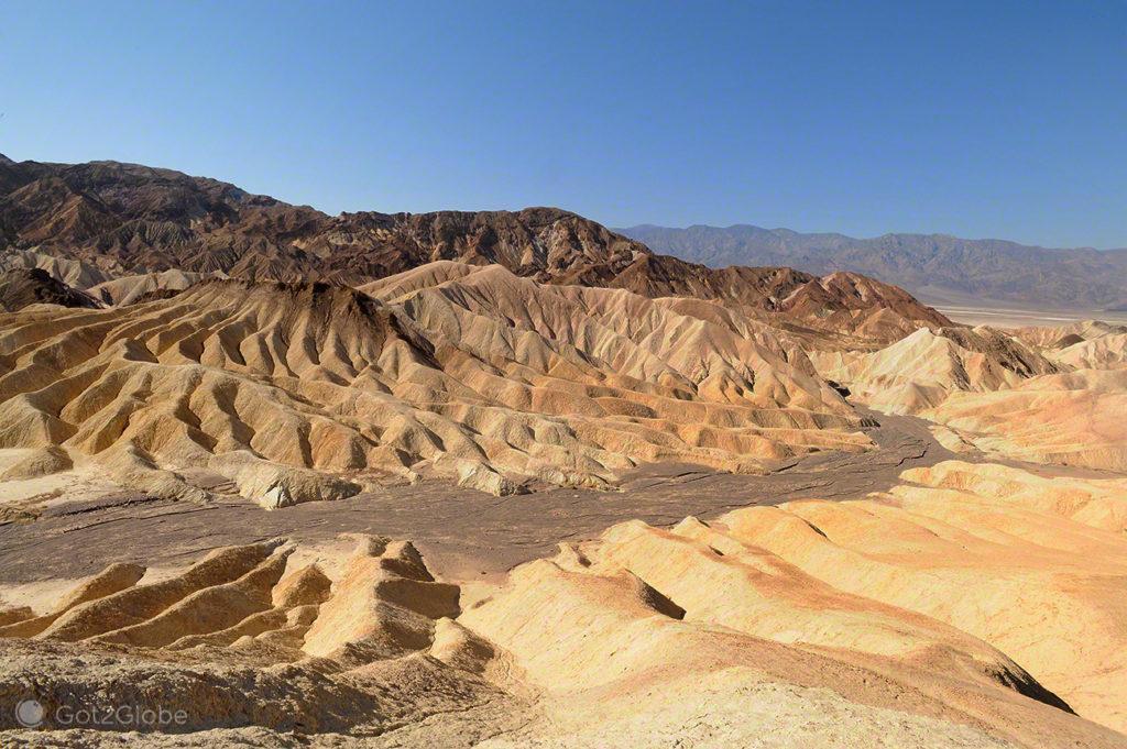 Vale esculpido pela erosão, Vale da Morte, Califórnia, Estados Unidos da América