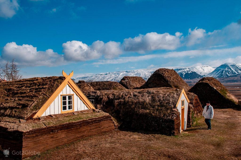 Turfa de Glaumbaer, Islândia Neve Sem Fim Ilha Fogo