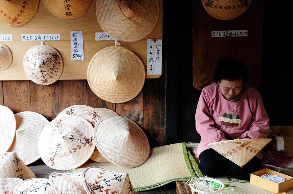 Chapeus, Magome a Tsumago, Nakasendo, Caminho Japão medieval