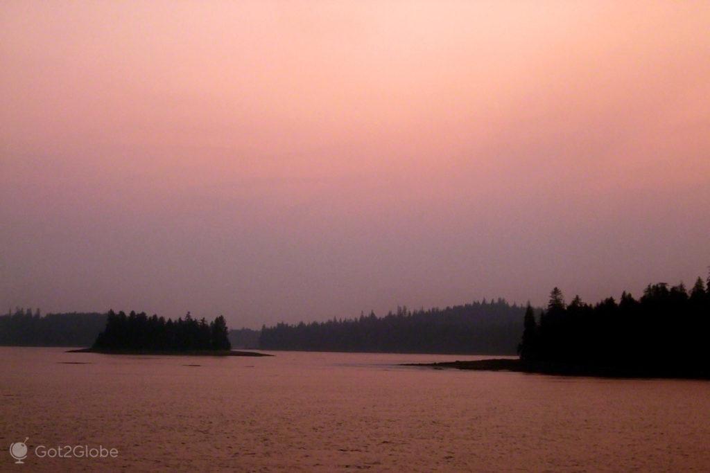 Canal em Sitka, Viagem Alasca que já foi da Rússia