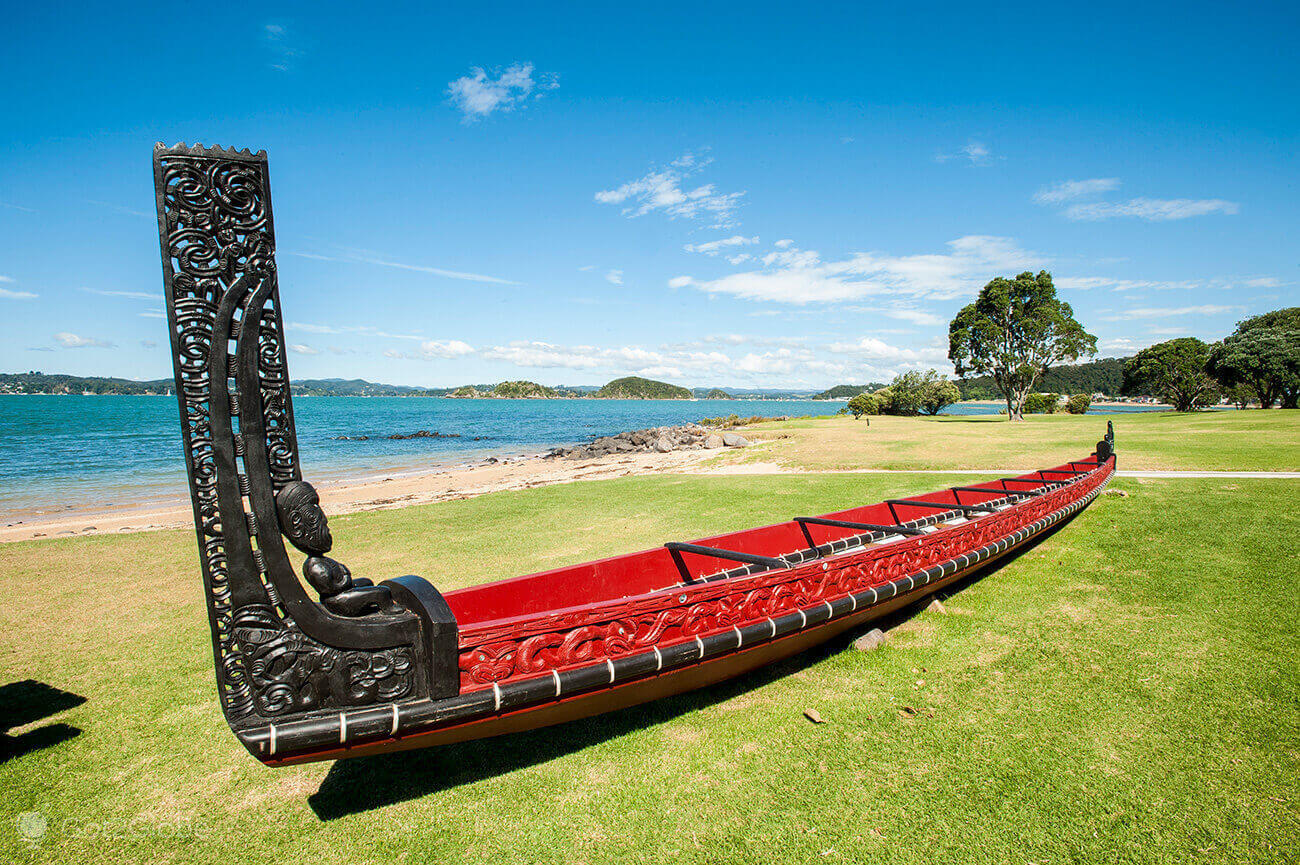 Canoa Maori, Waitangi Treaty Grounds, Nova Zelândia
