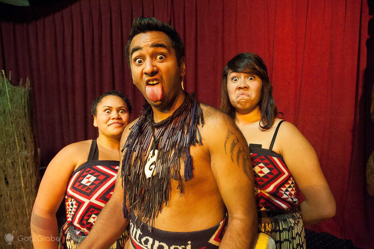 Maori haka, Waitangi Treaty Grounds, Nova Zelândia