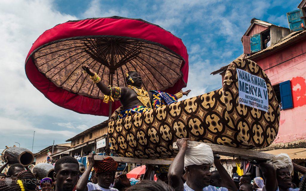 Nana Kwame V, chefe ganês, festival Fetu Afahye, Acra, Gana