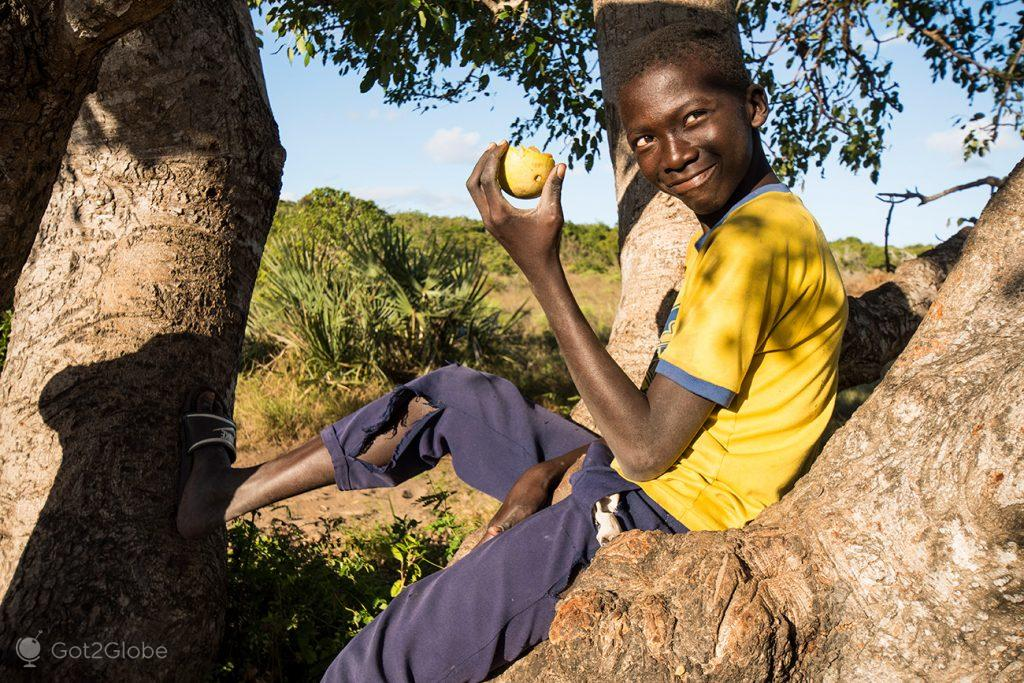Rapaz de Bazaruto, Moçambique