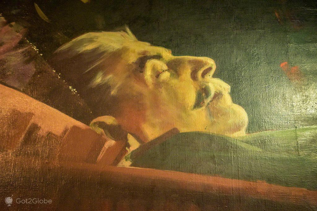 Pintura fúnebre de Estaline, Museu de Estaline, Gori, Geórgia