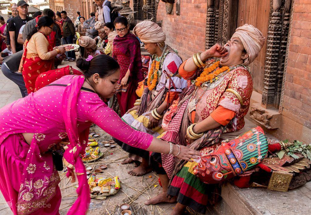 Celebração newar, Bhaktapur, Nepal
