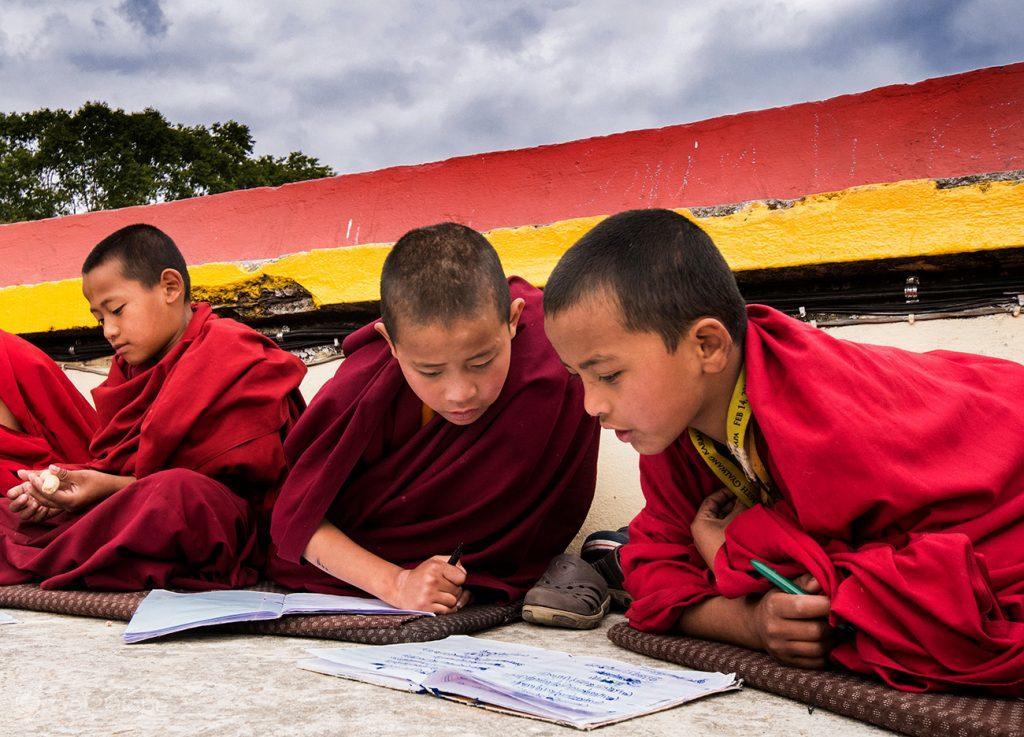 Monges do Mosteiro de Rumtek, Sikkim, Índia