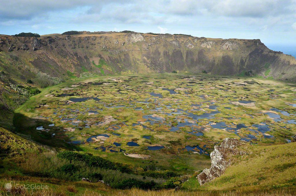 Cratera de Ranu Kao, Ilha da Páscoa, Rapa Nui