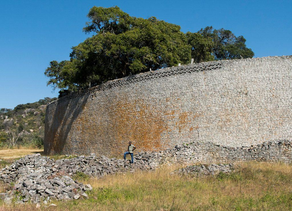 Muro do Grande Cercado, Great Zimbabwe, Zimbabwe