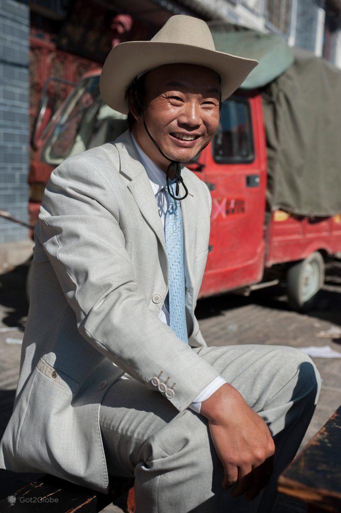Cliente de mercado de Dali, Yunnan, China