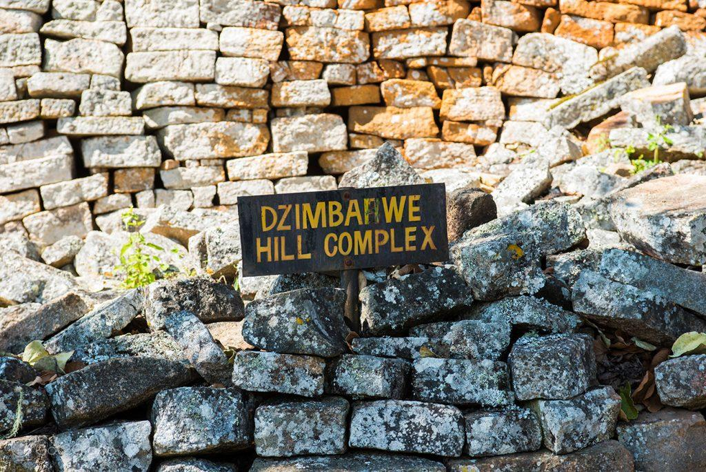 Pedras das ruínas de Great Zimbabwe