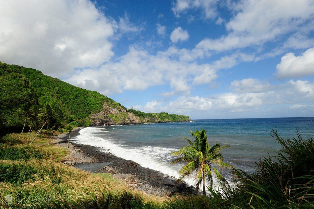 Praia vulcânica de Maui, Havai