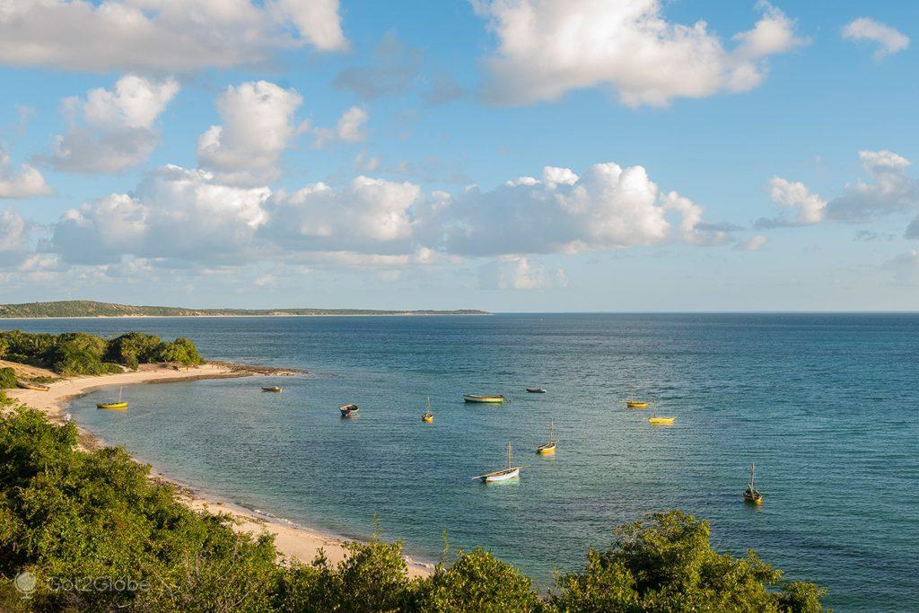 Enseada da ilha de Bazaruto, no Canal de Moçambique