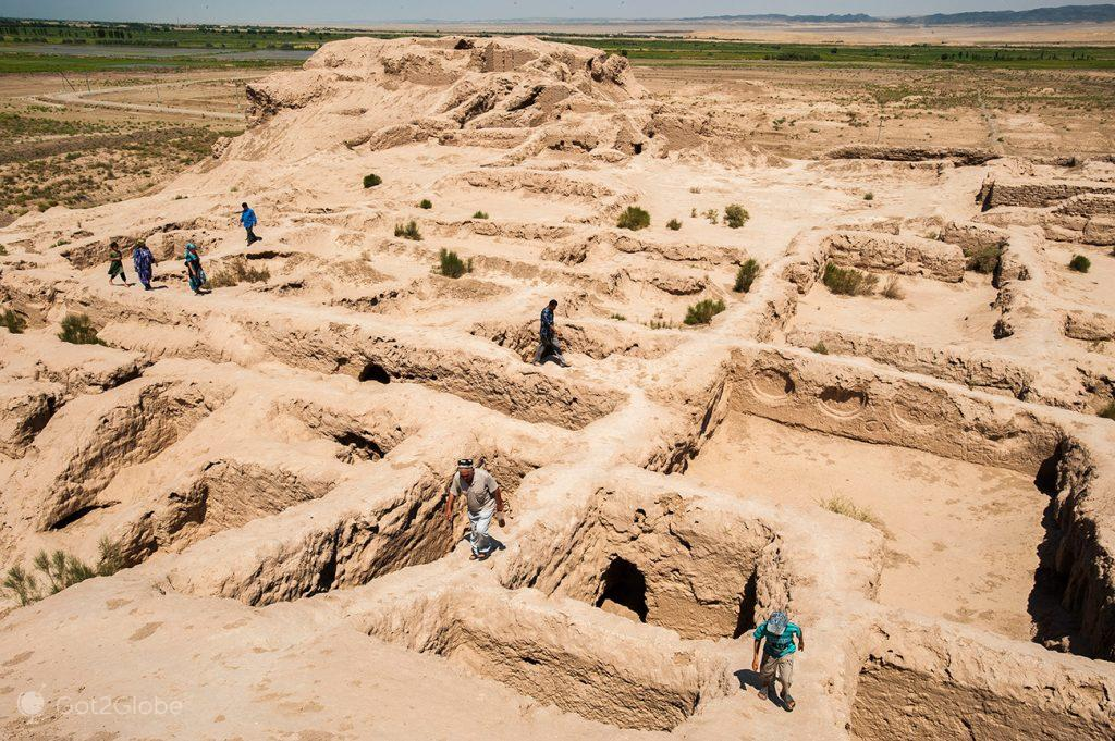 ruínas de Toprak Kala, Usbequistão