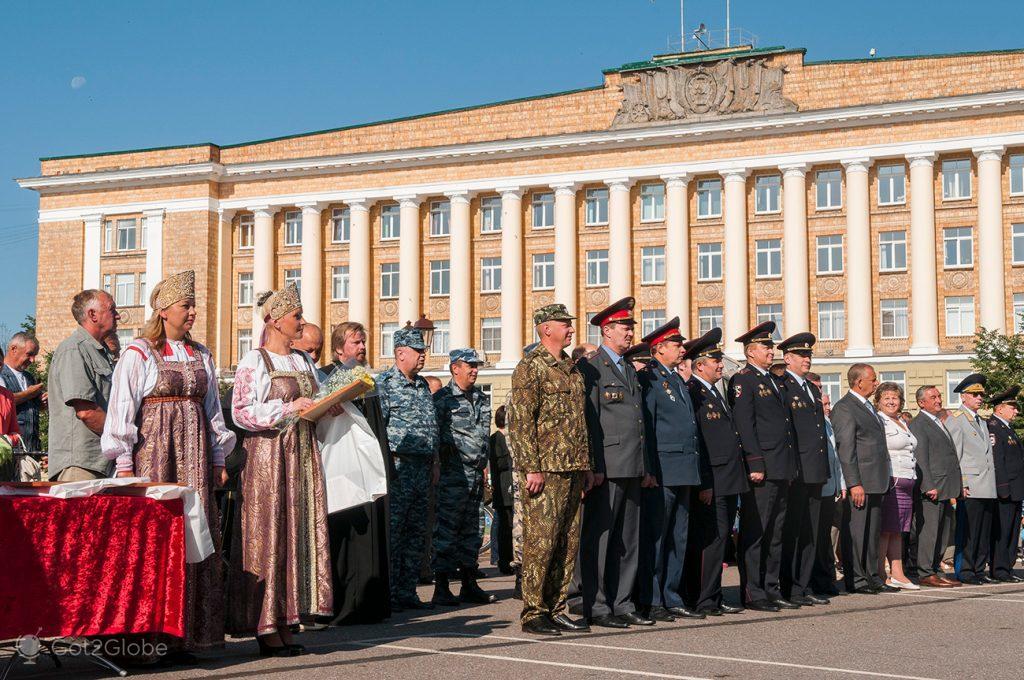 Cerimónia oficial, Novgorod, Rússia