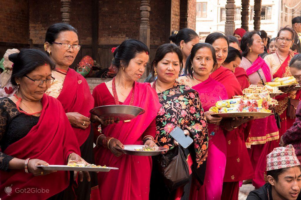 Cerimónia newar, Bhaktapur, Nepal