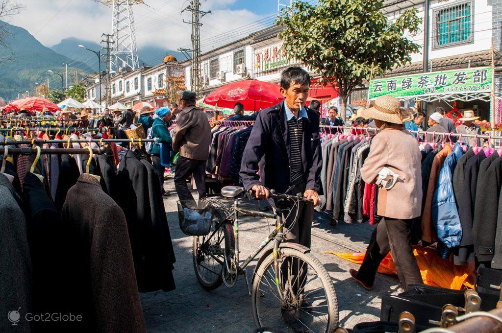 Mercado em Dali, Yunnan, China