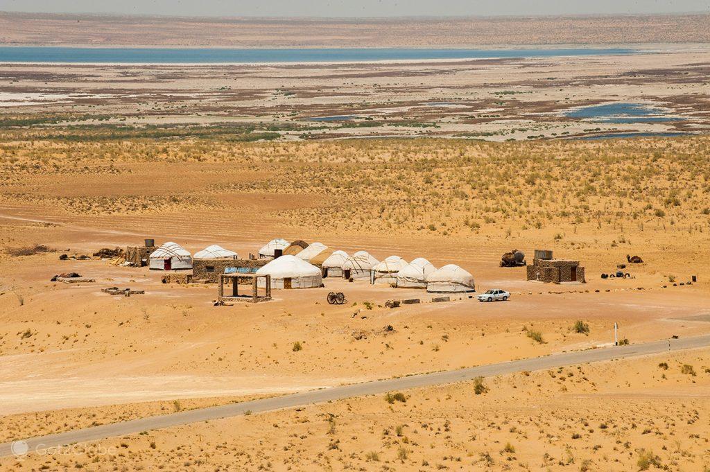 acampamento de iurtas de Ayaz Kala, Usbequistão