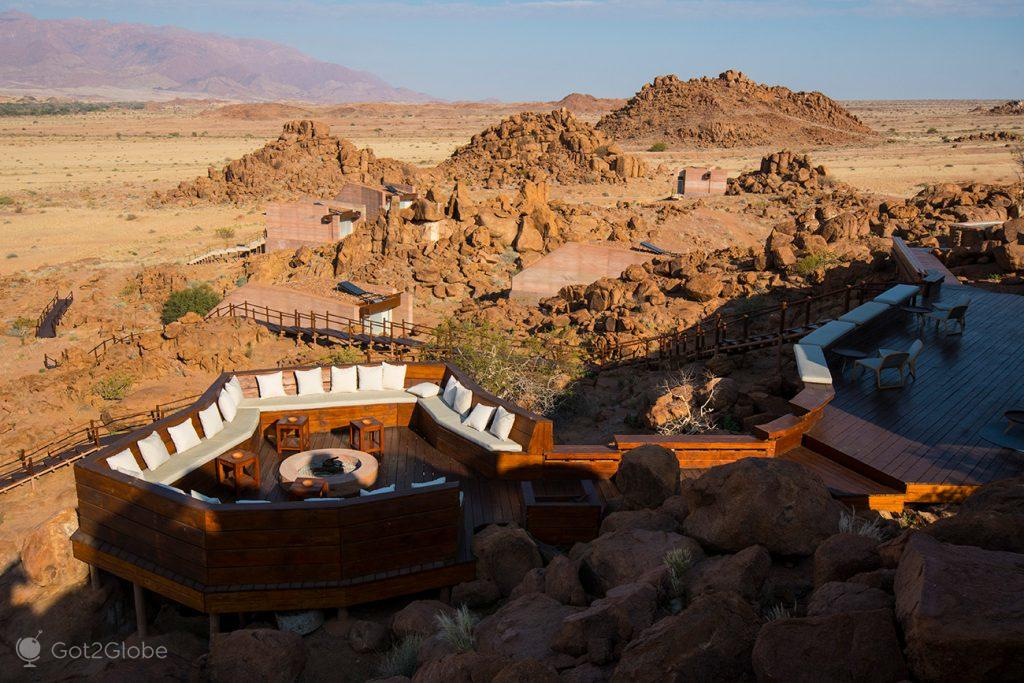 Estrutura do lodge Sorris Sorris, Namibia