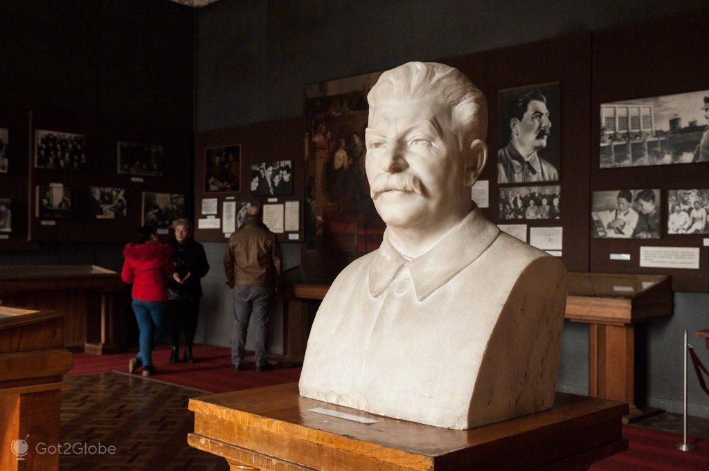 Busto de Estaline, Museu de Estaline, Gori, Geórgia