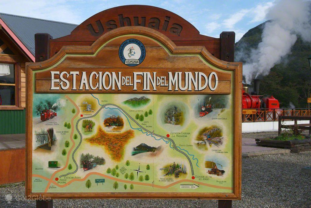 Placard da Estación del Fin del Mundo, Ushuaia, Argentina
