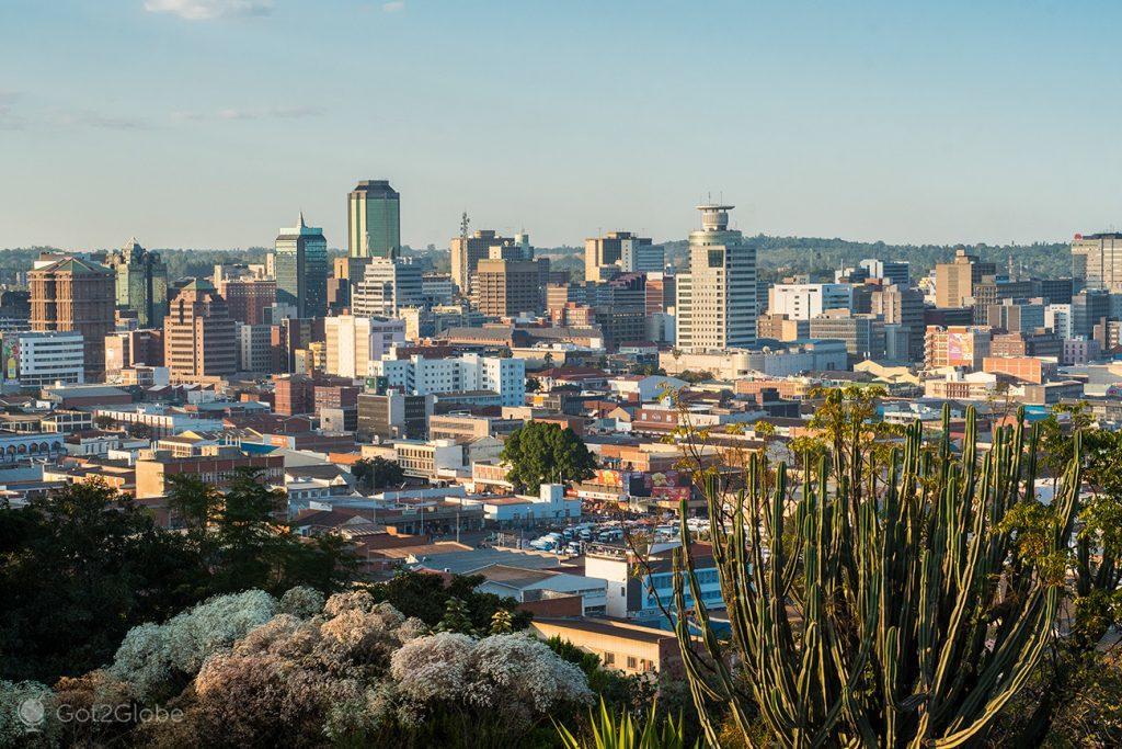 Panorâmica de Harare, Zimbabwe
