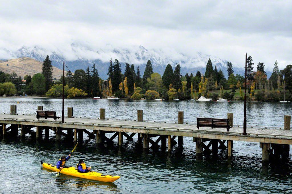 Caiaque, lago Wakatipu, Queenstown, Nova Zelândia