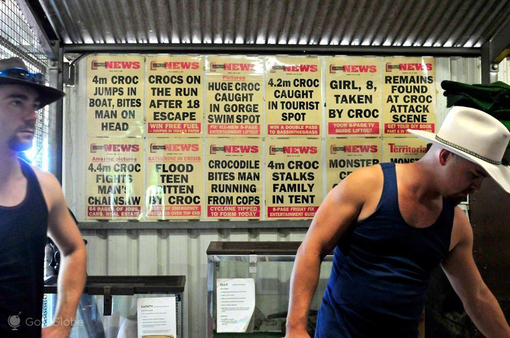 Notícias crocs, Alice Springs a Darwin, Stuart hwy, Caminho do Top End