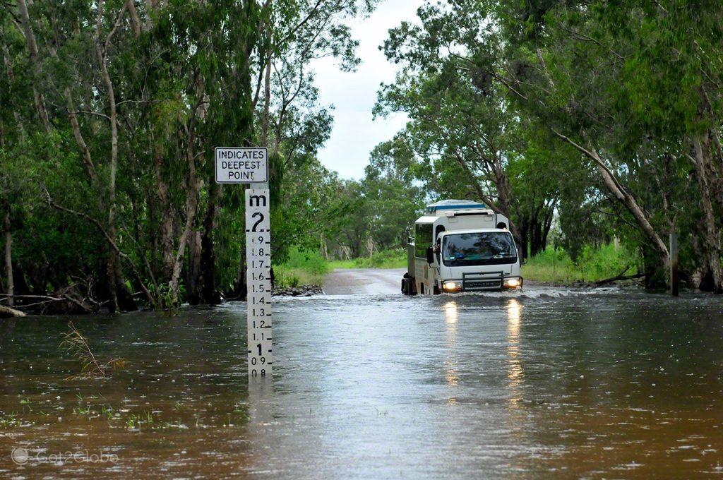 Travessia alagada, Alice Springs a Darwin, Stuart hwy, Caminho do Top End