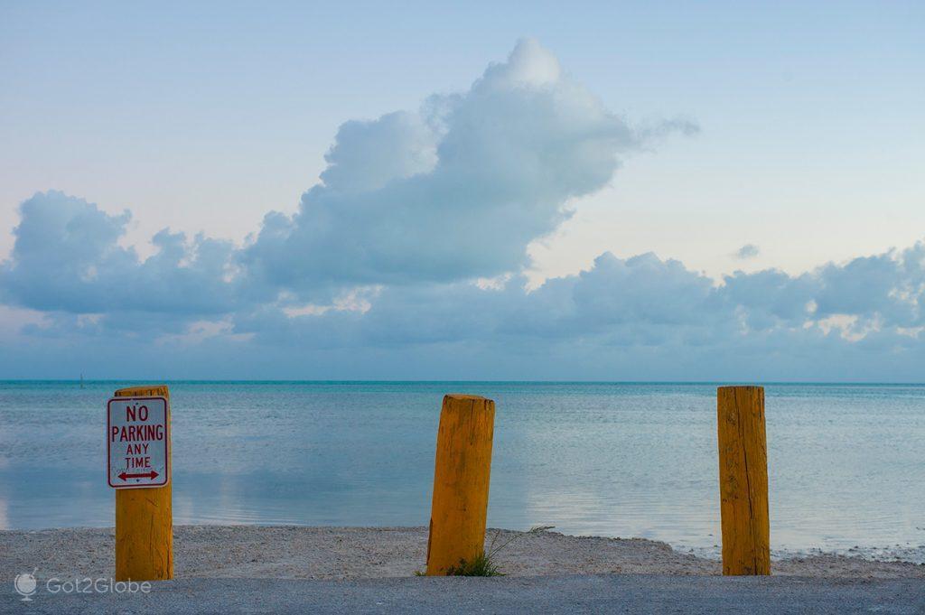 Entrada para Anne's Beach, Islamorada, Florida Keys, Estados Unidos da América