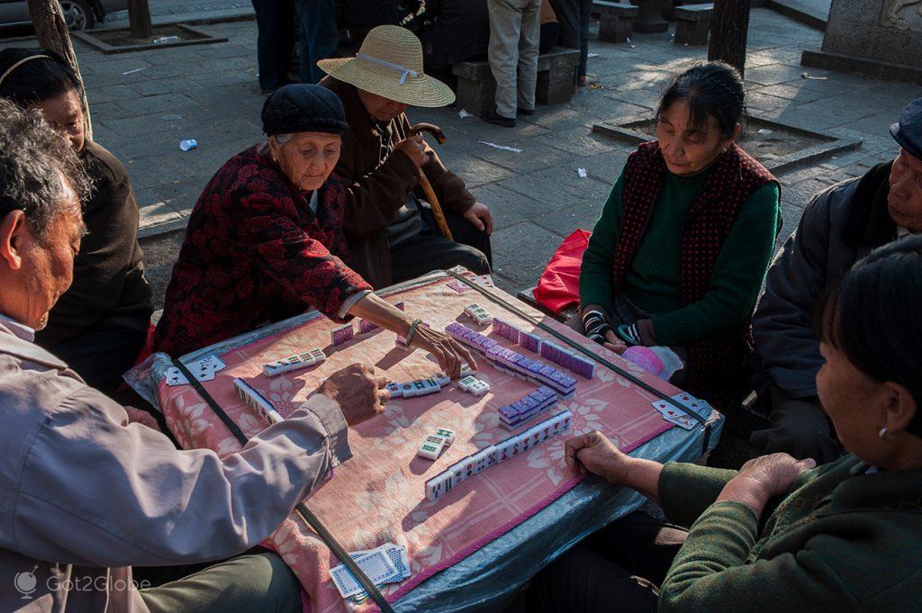 Mahjong em Dali, Yunnan, China