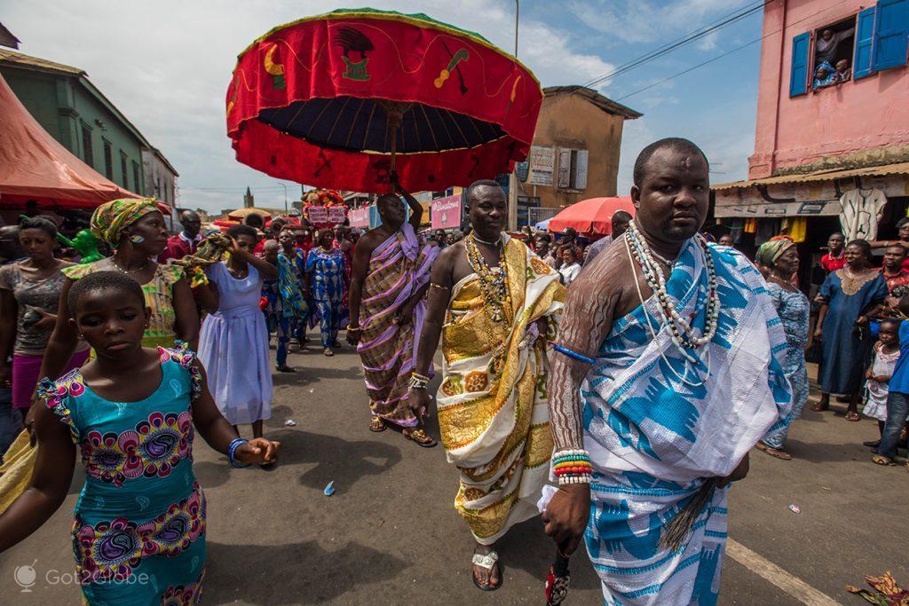 Chefes regionais ganeses, festival Fetu Afahye, Acra, Gana