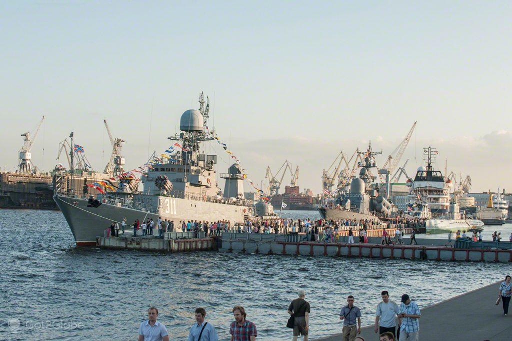 Uma Frota ancorada