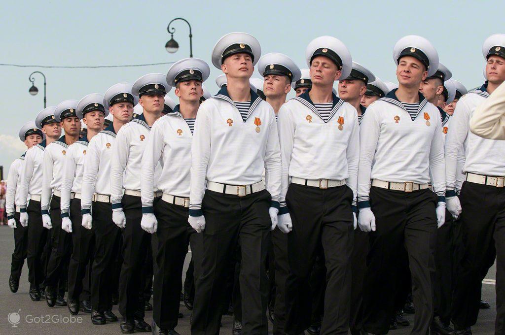 Um desfile elegante
