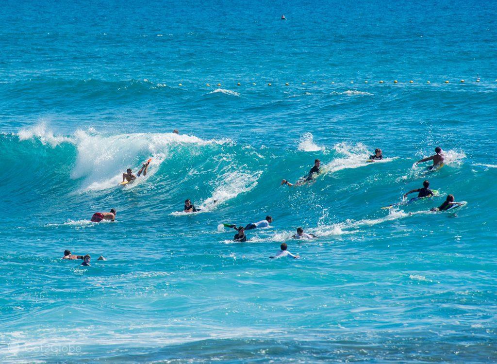 Surfistas e bodyboarders, Boucan Canot, Ilha da Reunião
