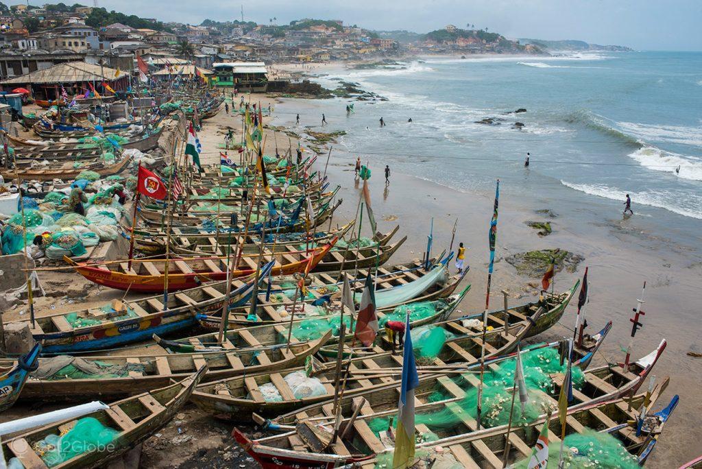 Barcos de pesca, Cape Coast, Gana
