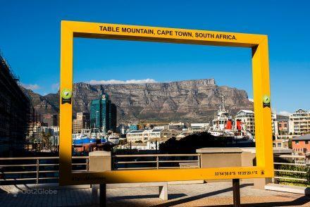 Montanha da Mesa vista a partir de Waterfront, Cidade do Cabo, África do Sul
