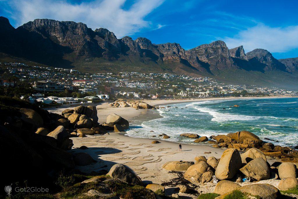 Glen Beach e Twelve Apostles, Cidade do Cabo, África do Sul