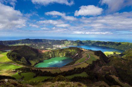 Lagoa das Sete Cidades, um dos cenários majestosos da ilha de São Miguel, Açores