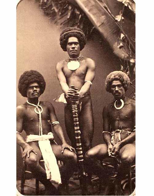 Cabelos históricos, Fiji, Viti Levu, Canibalismo e Cabelo