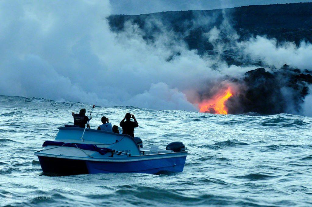 Foz incandescente, Grande Ilha Havai, Parque Nacional Vulcoes, rios de Lava