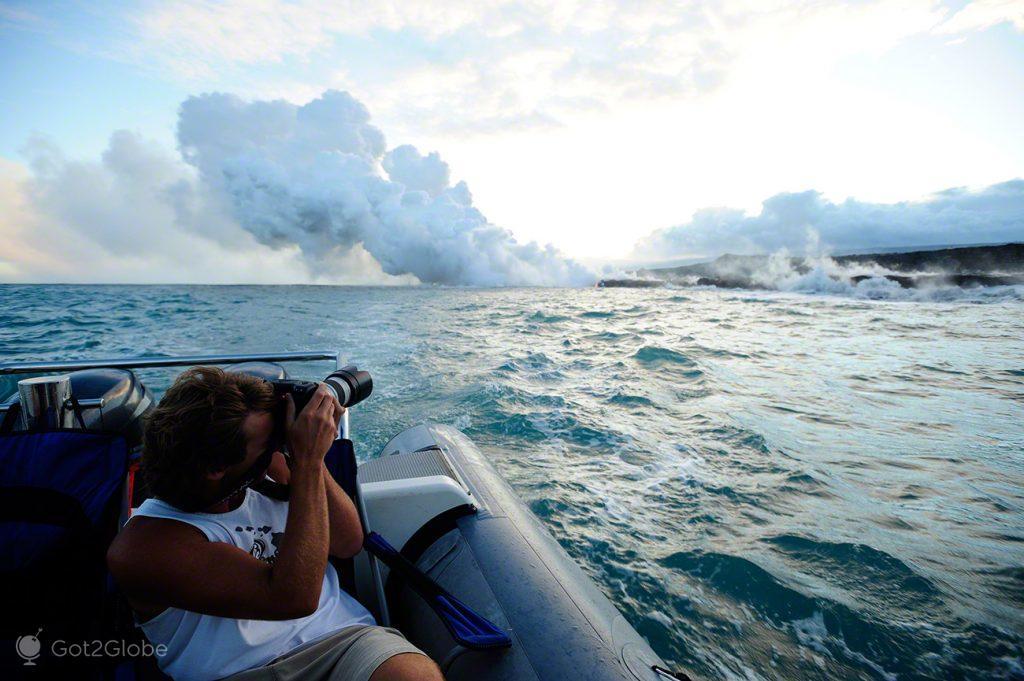 Fotos, Grande Ilha Havai, Parque Nacional Vulcoes, rios de Lava