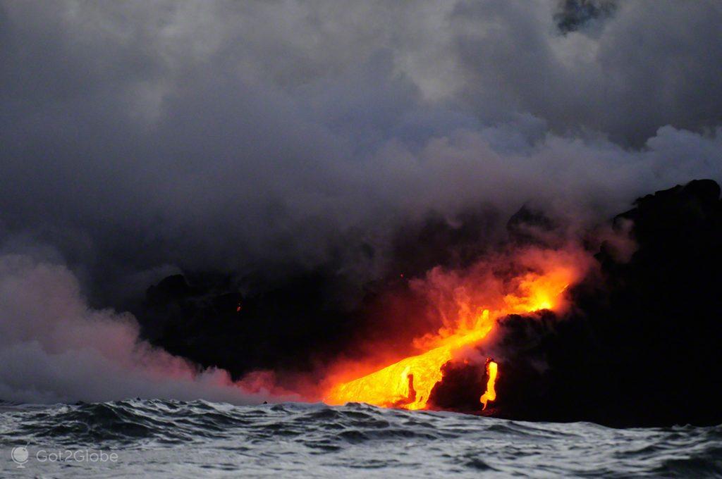 Rio de lava, Grande Ilha Havai, Parque Nacional Vulcoes