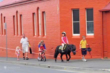 Família em Hobart, Tasmânia, Austrália
