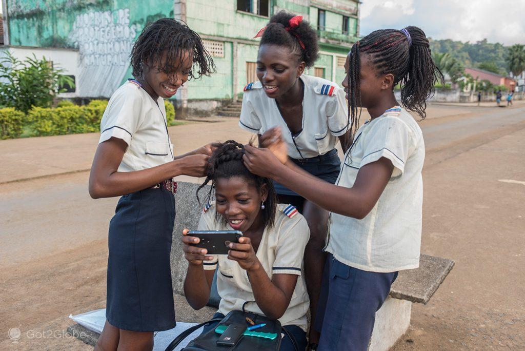 Estudantes de Santo António, Ilha de Príncipe, São Tomé e Principe