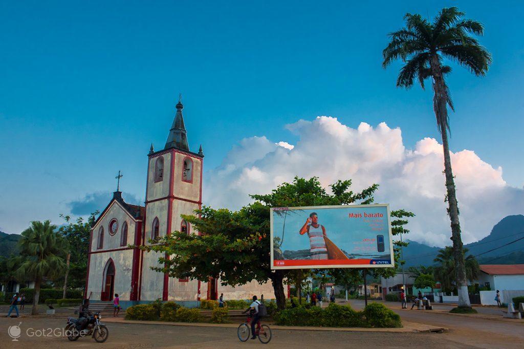 A igreja de Nª Senhora da Conceição, em Santo António, ilha de Principe, São Tomé e Principe